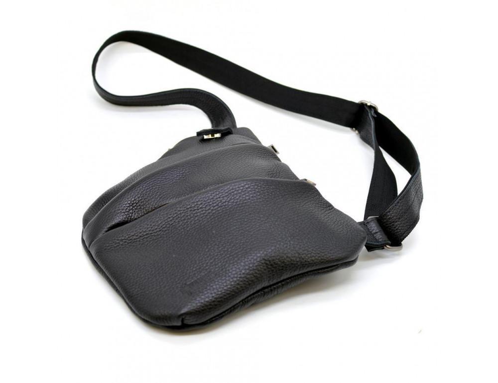 Чёрная сумка на плечо из кожи TARWA FA-6402-3md - Фото № 7