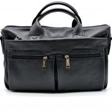 Чёрный кожаный портфель TARWA FA-7122-3md