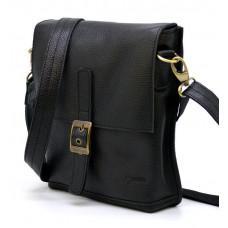 Чорна шкіряна сумка через плече TARWA FA-7157-3md