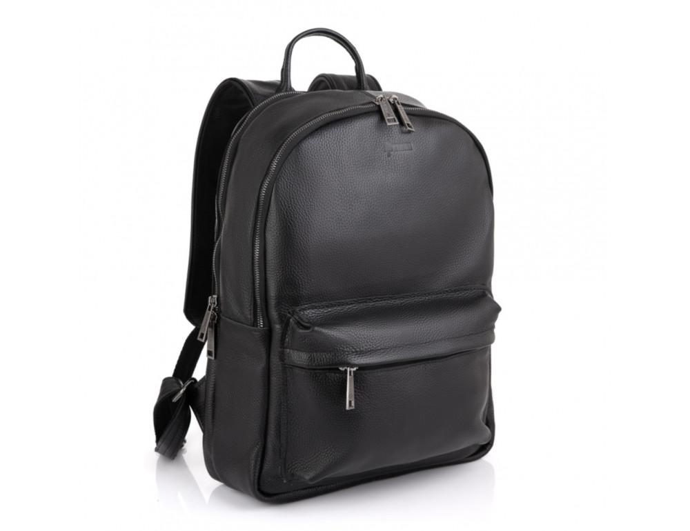Чёрный мужской кожаный рюкзак TARWA FA-7273-3md - Фото № 1