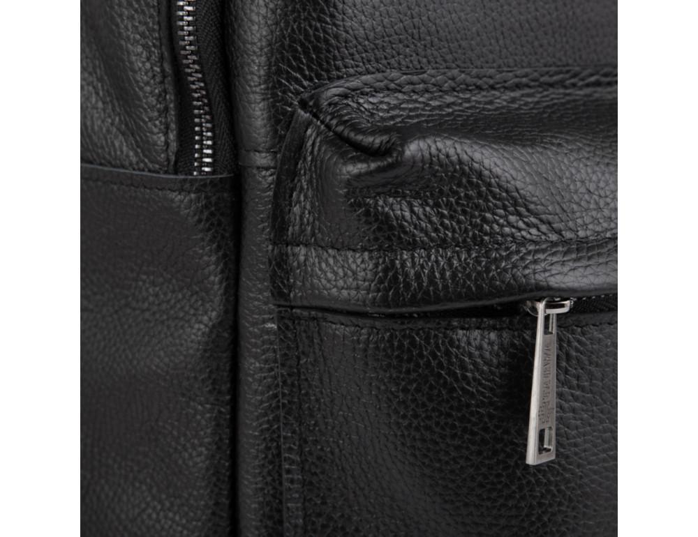 Чёрный мужской кожаный рюкзак TARWA FA-7273-3md - Фото № 3