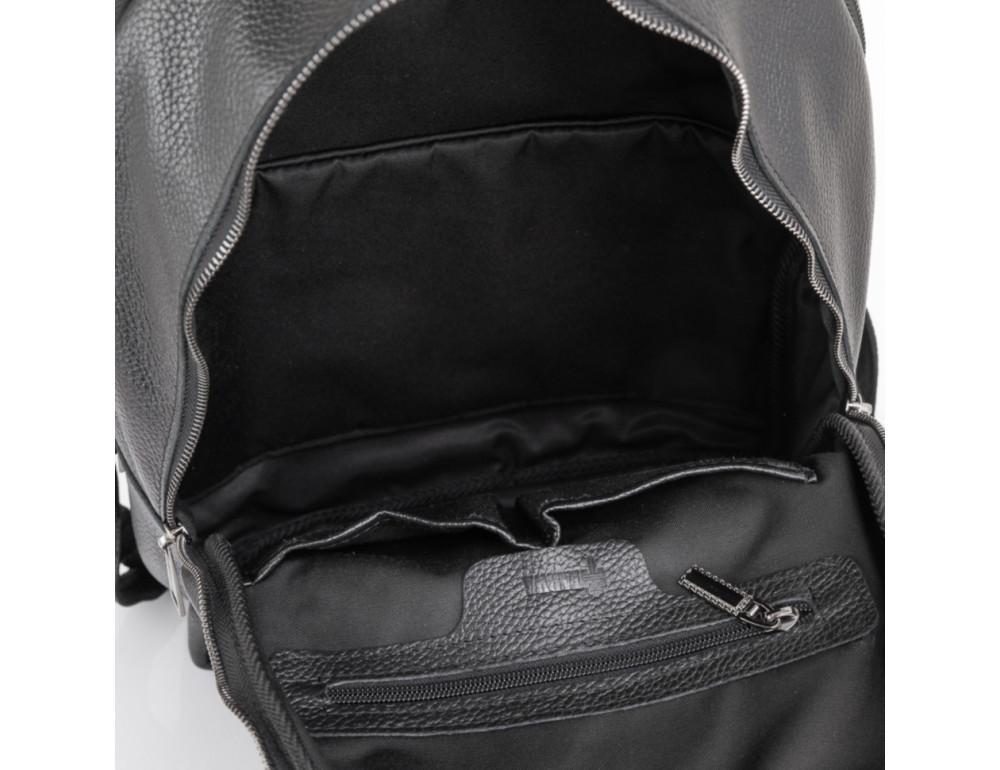 Чёрный мужской кожаный рюкзак TARWA FA-7273-3md - Фото № 4