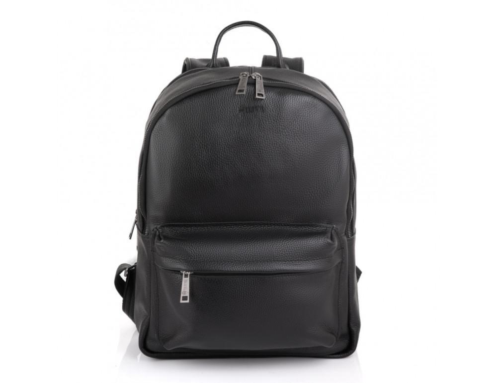 Чёрный мужской кожаный рюкзак TARWA FA-7273-3md - Фото № 5