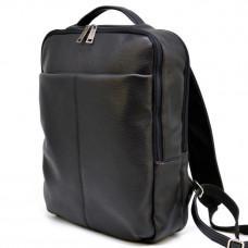 Чёрный кожаный мужской рюкзак TARWA FA-7280-3md