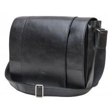Чорна чоловіча сумка з свинячої шкіри TARWA FA-7338-4lx