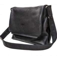 Чёрная сумка на плечо с фактурной кожи TARWA FA-7778-4lx