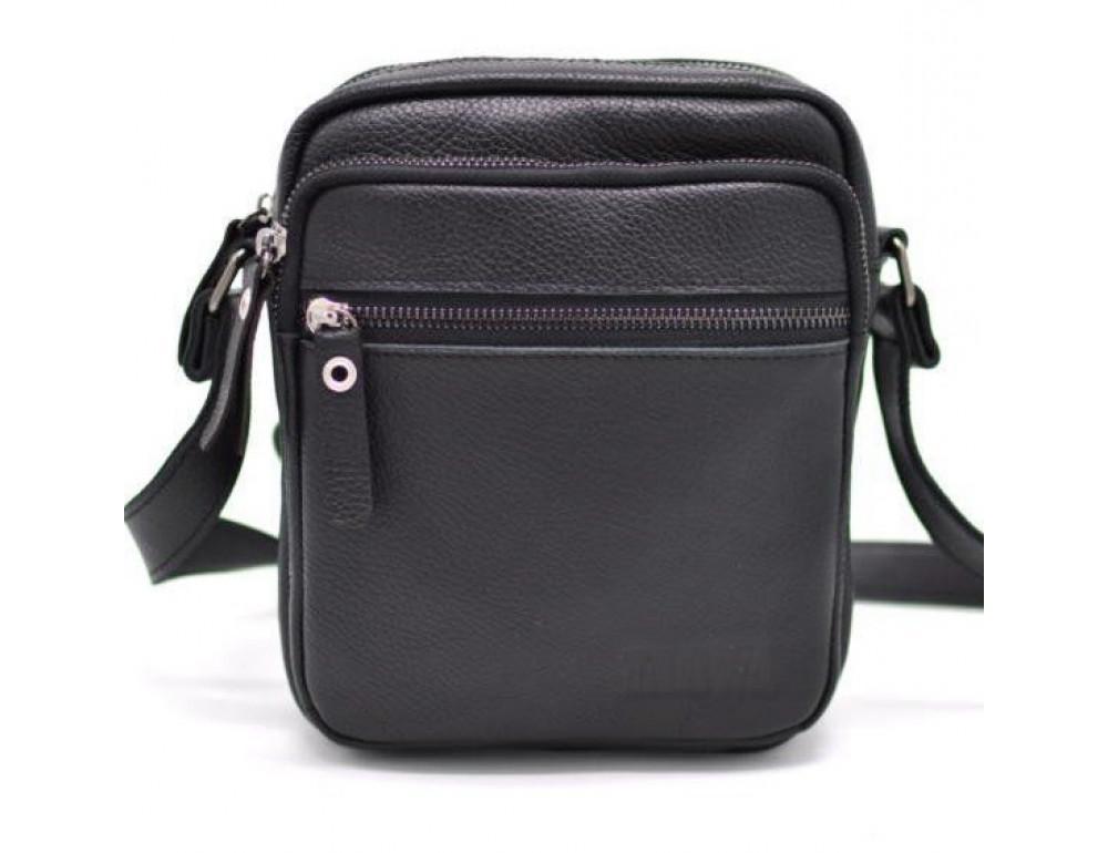 Чёрная маленькая мужская сумочка TARWA FA-8086-1md - Фото № 1