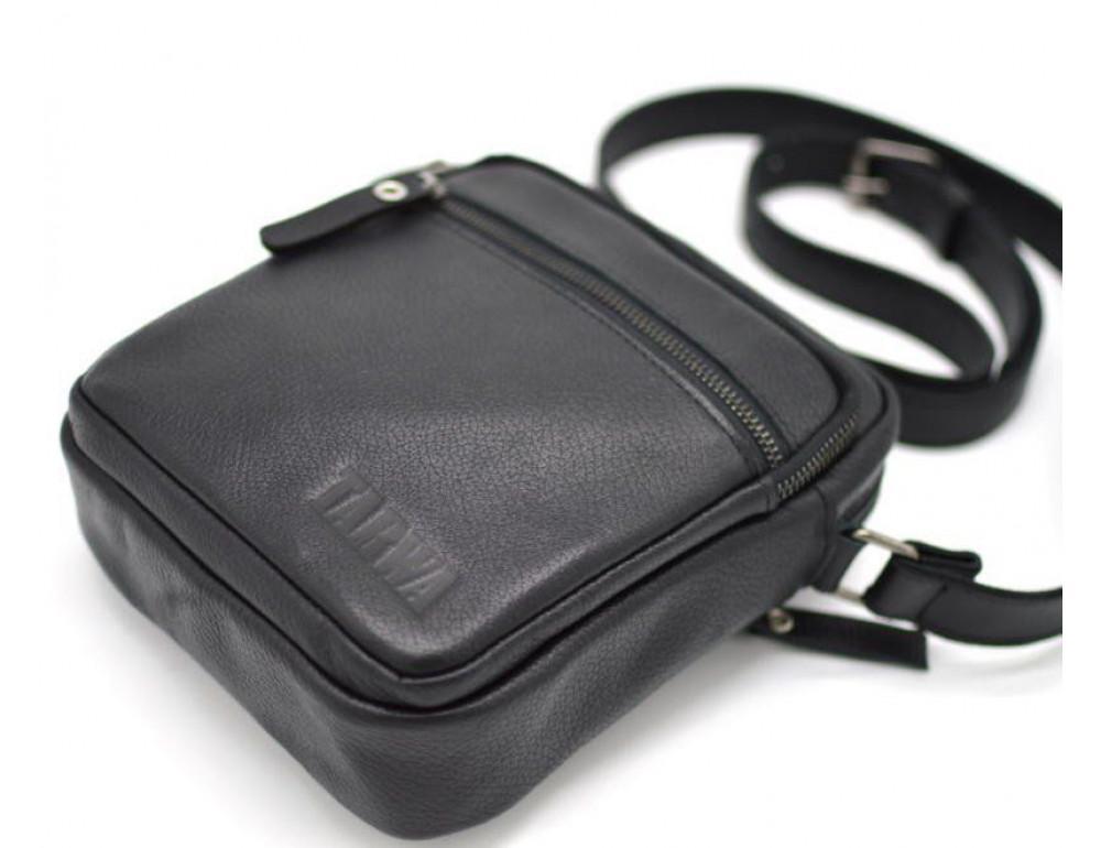 Чёрная маленькая мужская сумочка TARWA FA-8086-1md - Фото № 3