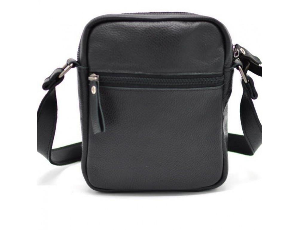 Чёрная маленькая мужская сумочка TARWA FA-8086-1md - Фото № 4
