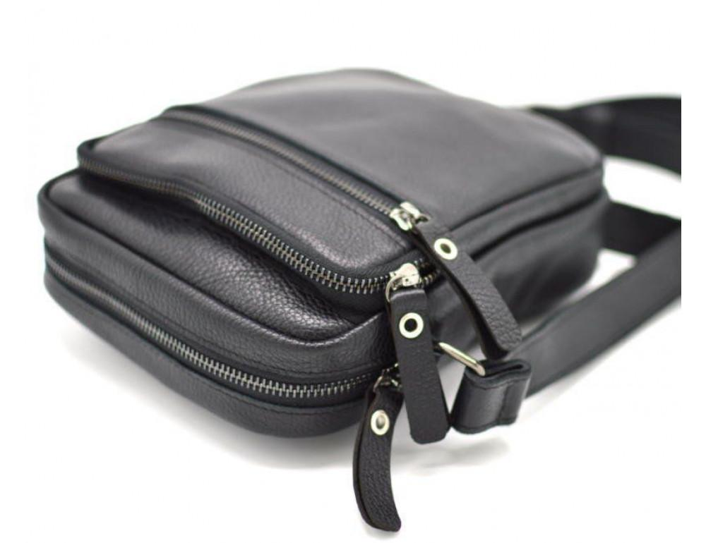 Чёрная маленькая мужская сумочка TARWA FA-8086-1md - Фото № 5