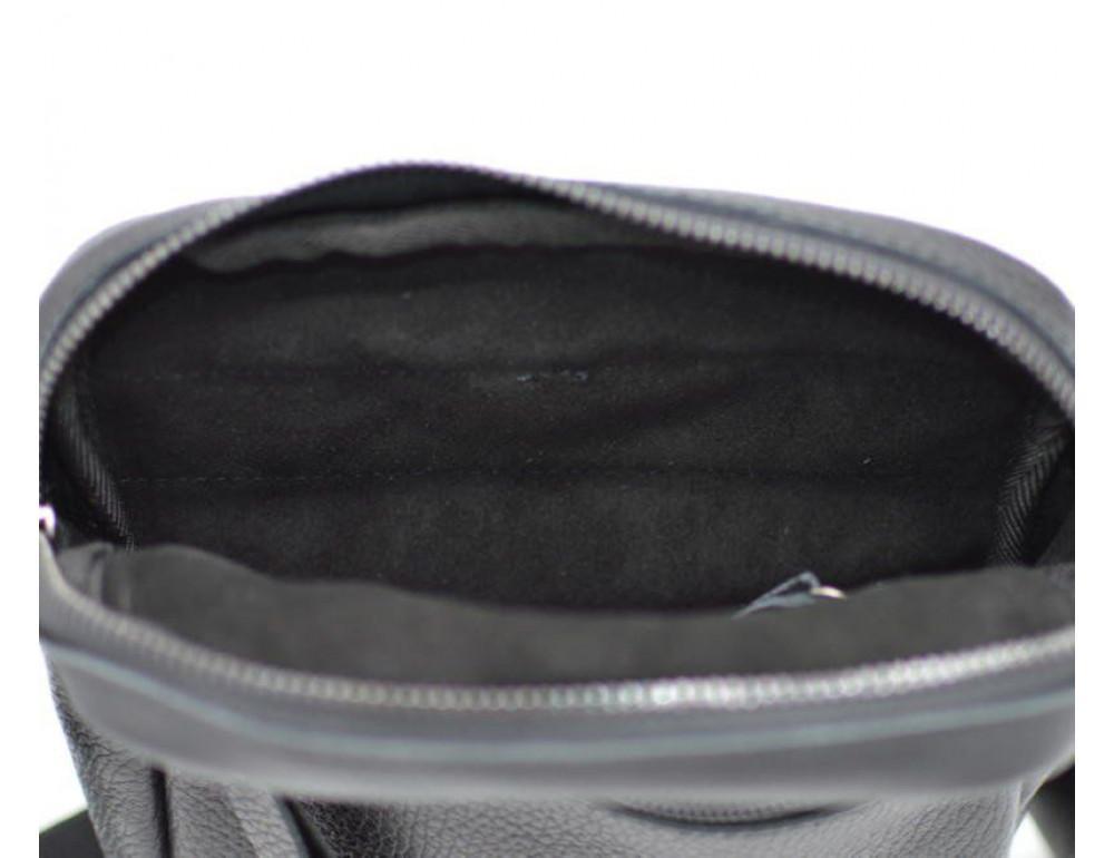 Чёрная маленькая мужская сумочка TARWA FA-8086-1md - Фото № 7