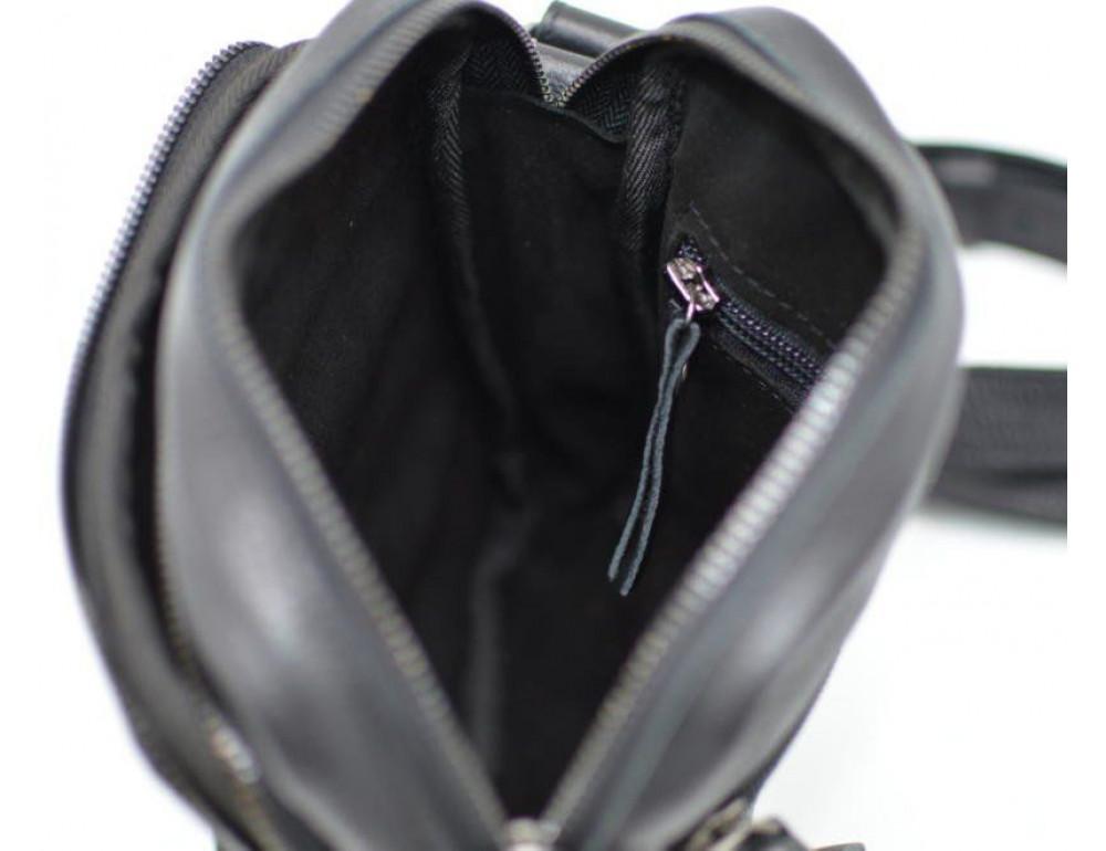 Чёрная маленькая мужская сумочка TARWA FA-8086-1md - Фото № 8