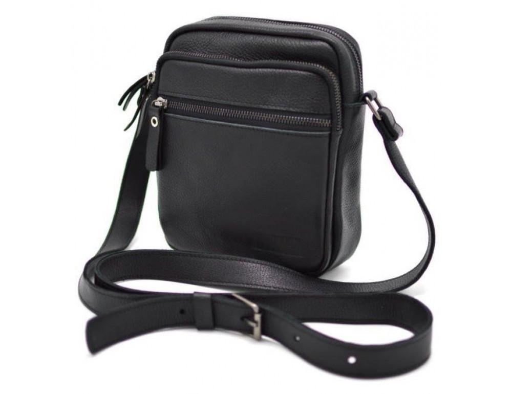 Чёрная маленькая мужская сумочка TARWA FA-8086-1md - Фото № 9