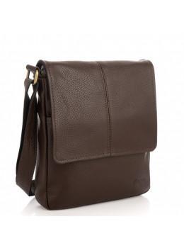 Коричнева сумка месенджер з зернистою шкіри TARWA FC-1301-3md