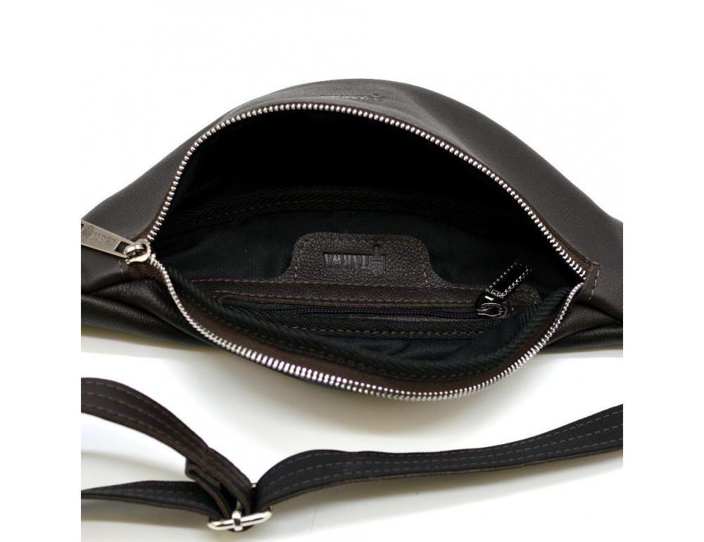 Коричневая кожаная сумка на пояс TARWA fc-3005-4lx - Фото № 2