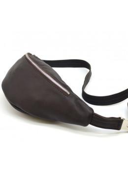 Коричнева шкіряна сумка на пояс TARWA fc-3005-4lx