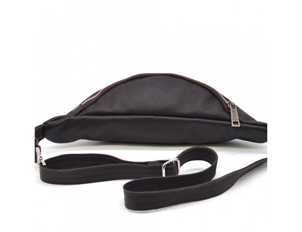 Коричневая кожаная сумка на пояс TARWA fc-3005-4lx - Фото № 5
