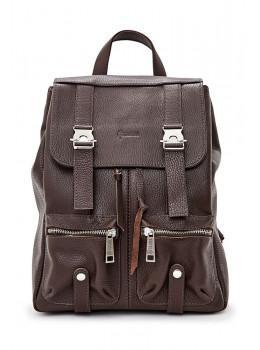 Коричневий жіночий рюкзак з натуральної шкіри TARWA FC-3016-4lx