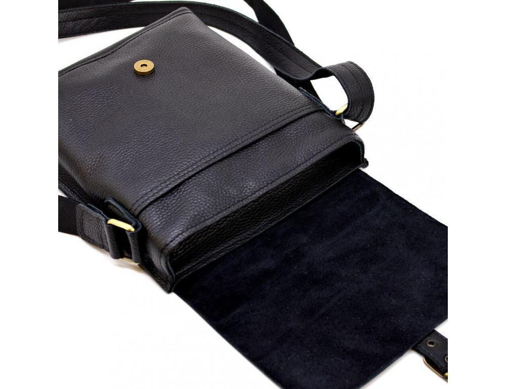Чёрная кожаная сумка через плечо TARWA FGA-7157-3md - Фото № 2