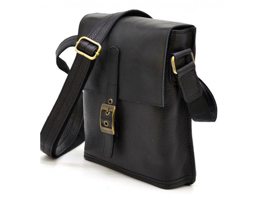 Чёрная кожаная сумка через плечо TARWA FGA-7157-3md - Фото № 1