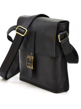 Чёрная кожаная сумка через плечо TARWA FGA-7157-3md