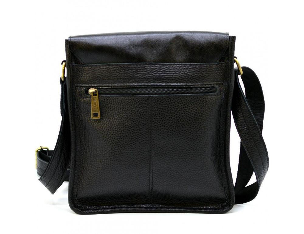 Чёрная кожаная сумка через плечо TARWA FGA-7157-3md - Фото № 4