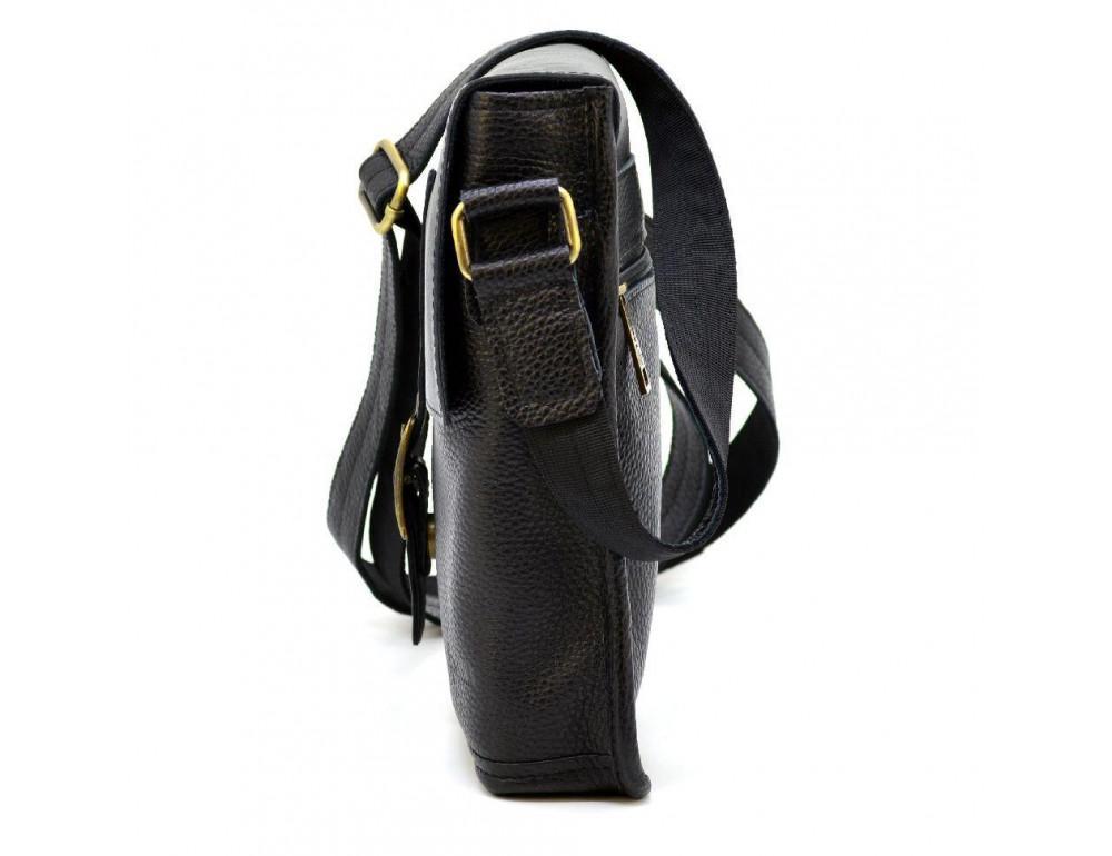 Чёрная кожаная сумка через плечо TARWA FGA-7157-3md - Фото № 5