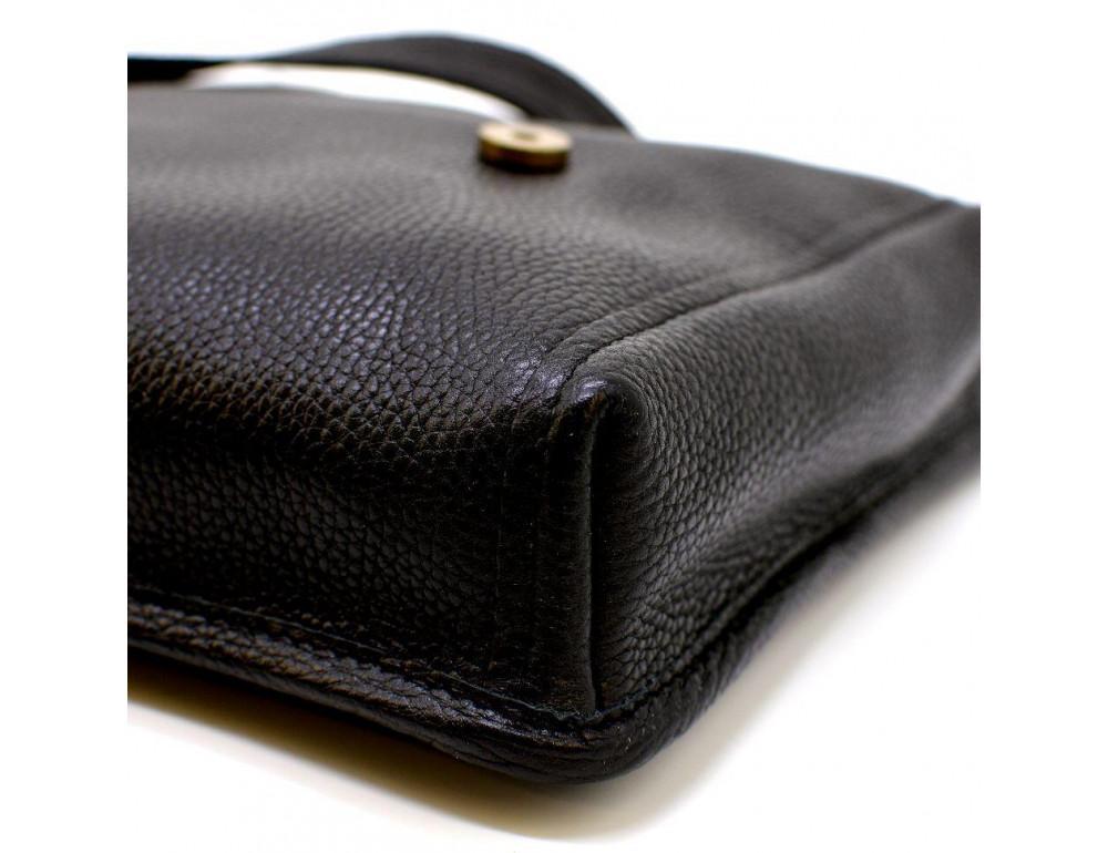 Чёрная кожаная сумка через плечо TARWA FGA-7157-3md - Фото № 6