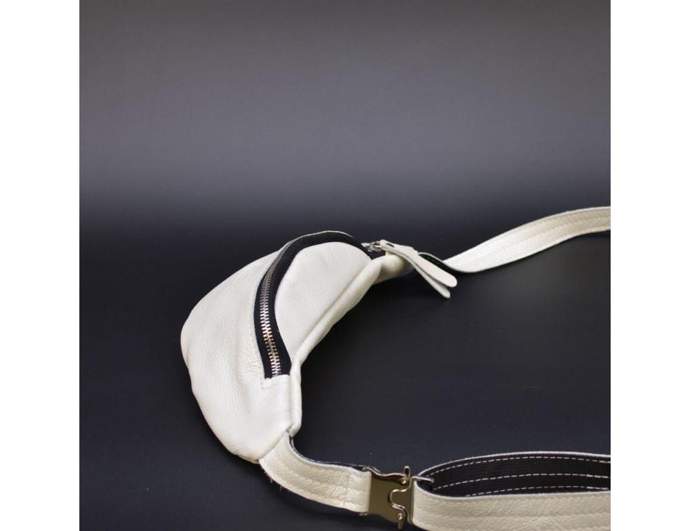 Белая женская сумка на пояс TARWA G1-3004-4lx - Фото № 7