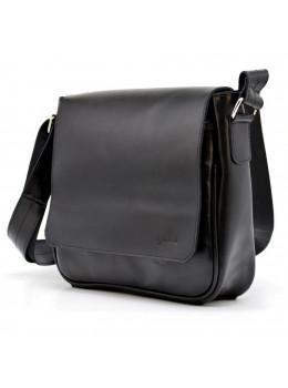 Чёрная кожаная сумка через плечо TARWA GA-0002-3md