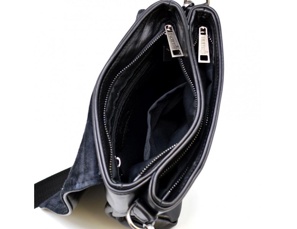 Чёрная кожаная мужская сумка на два отделения TARWA GA-0022-4lx - Фото № 2