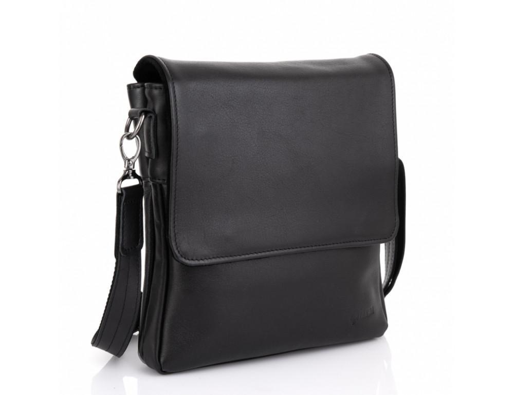 Чёрная кожаная мужская сумка на два отделения TARWA GA-0022-4lx - Фото № 1