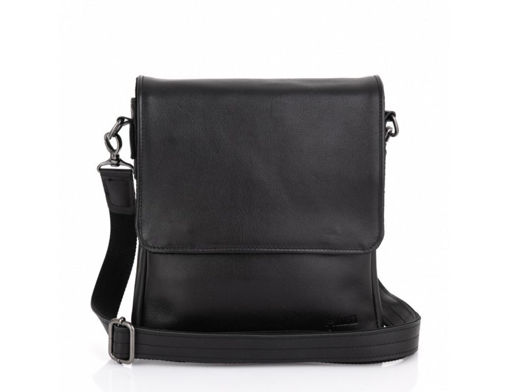 Чёрная кожаная мужская сумка на два отделения TARWA GA-0022-4lx - Фото № 3