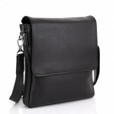 Чёрная кожаная мужская сумка на два отделения TARWA GA-0022-4lx