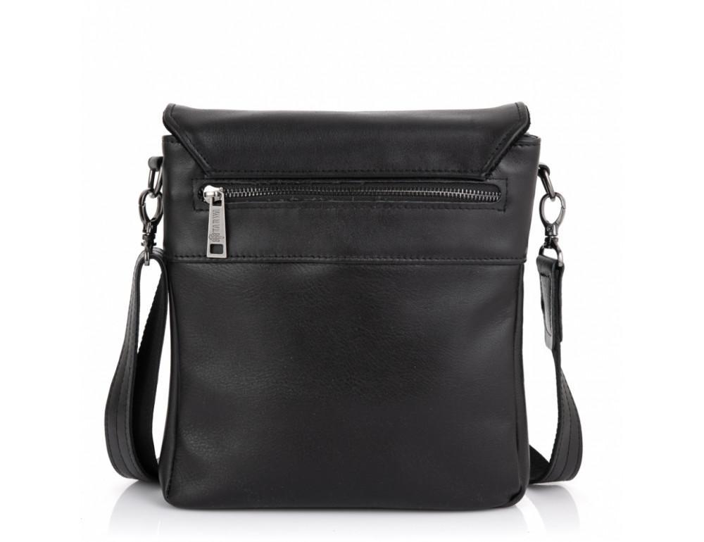 Чёрная кожаная мужская сумка на два отделения TARWA GA-0022-4lx - Фото № 4