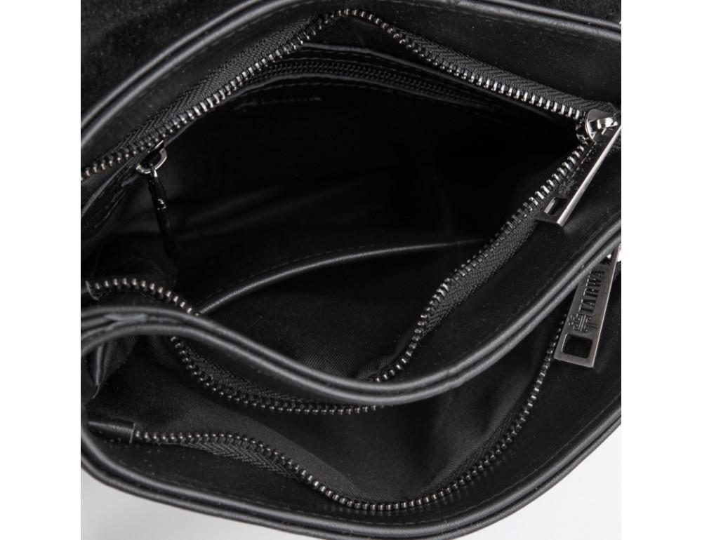Чёрная кожаная мужская сумка на два отделения TARWA GA-0022-4lx - Фото № 6
