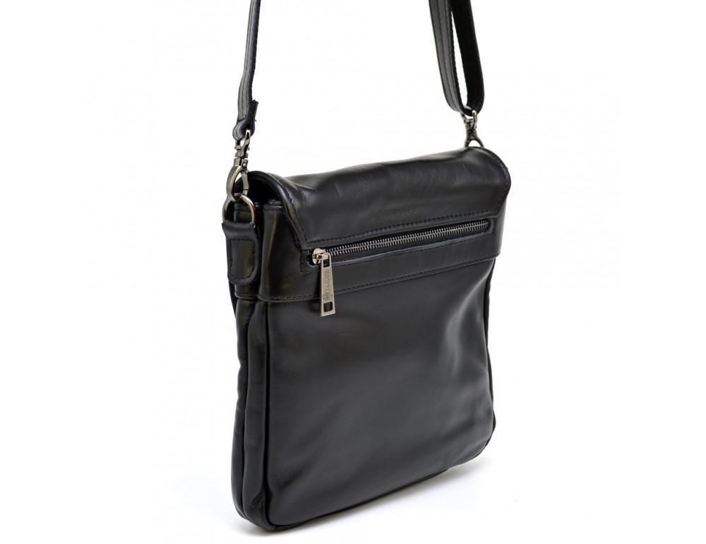 Чёрная кожаная мужская сумка на два отделения TARWA GA-0022-4lx - Фото № 9