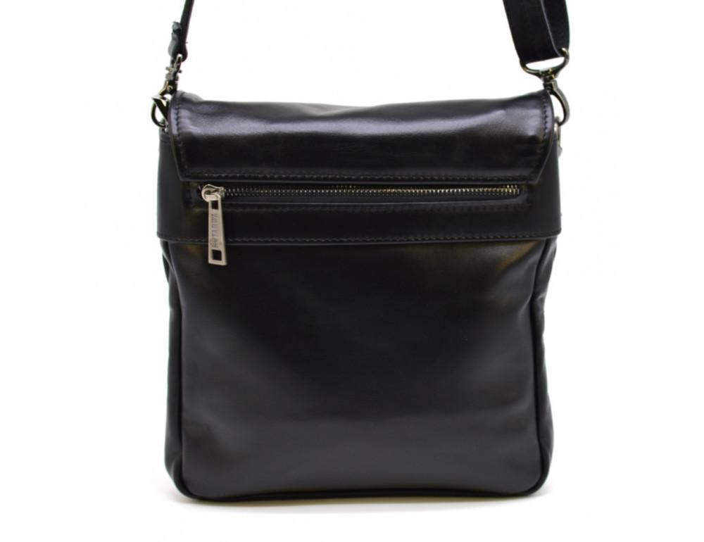 Чёрная кожаная сумка-мессенджер TARWA GA-0023-3md - Фото № 3