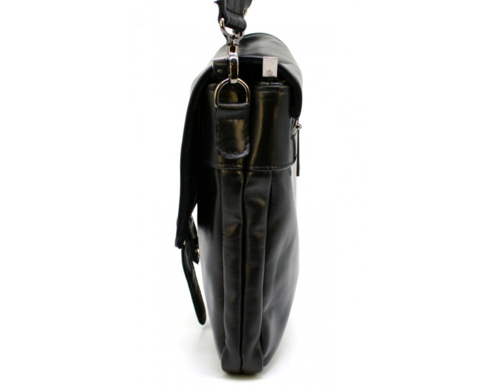 Чёрная кожаная сумка-мессенджер TARWA GA-0023-3md - Фото № 4