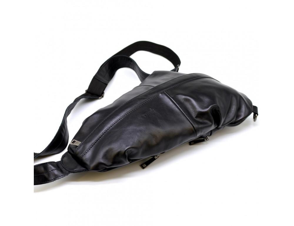 Стильная кожаная сумка-слинг TARWA Govard GA-0705-3md - Фото № 6