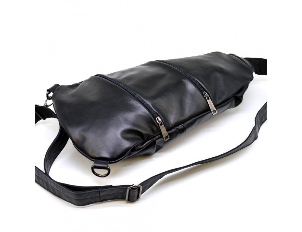 Стильная кожаная сумка-слинг TARWA Govard GA-0705-3md - Фото № 7
