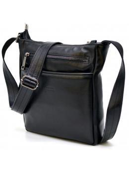 Чёрная кожаная сумка-мессенджер TARWA GA-1300-3md