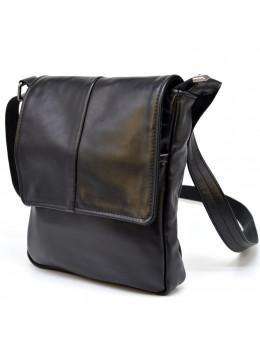 Чёрная кожаная сумка на одно отделение TARWA GA-1301-3md