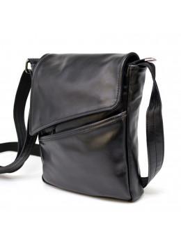 Чёрная кожаная сумка на одно отделение TARWA GA-1302-3md