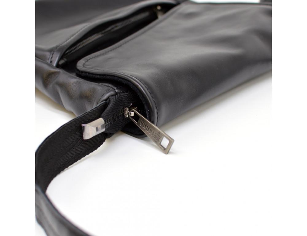 Чёрная кожаная сумка на одно отделение TARWA GA-1302-3md - Фото № 7