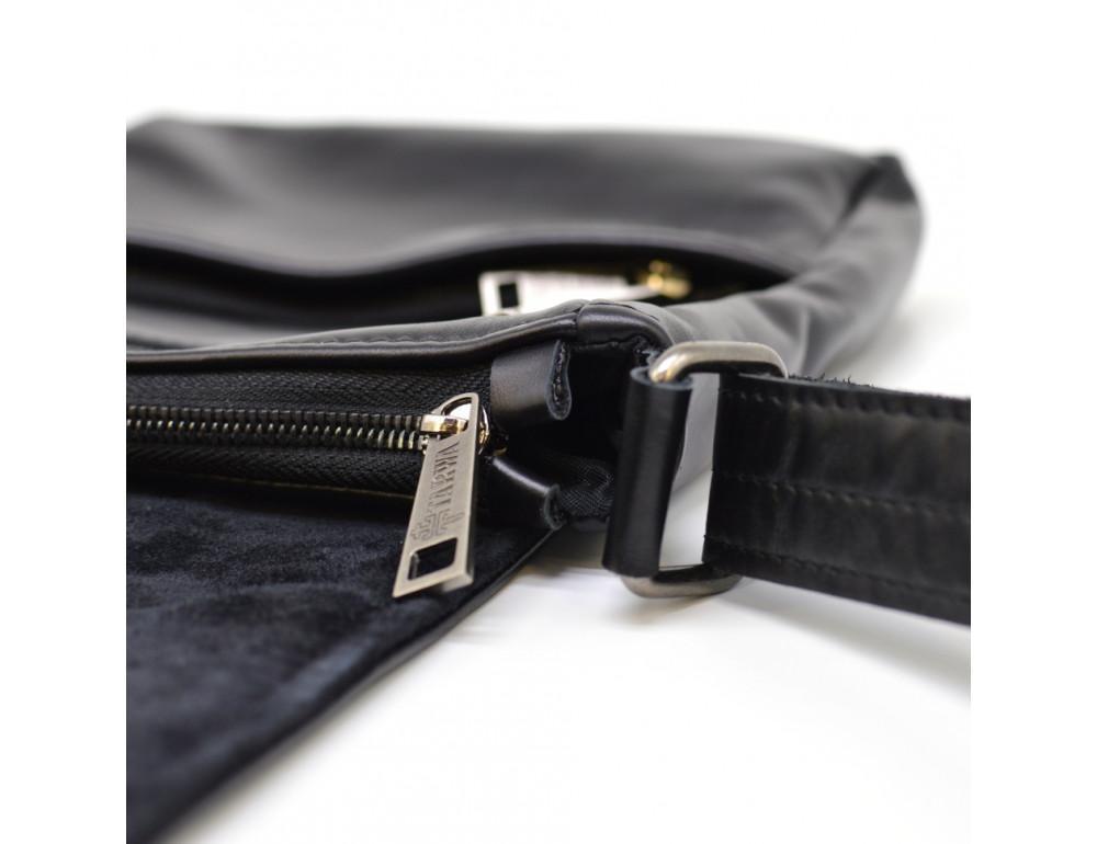 Чёрная кожаная сумка на одно отделение TARWA GA-1302-3md - Фото № 8
