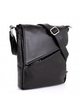 Чёрная мужская сумка через плечо с клапаном TARWA GA-1302-4lx