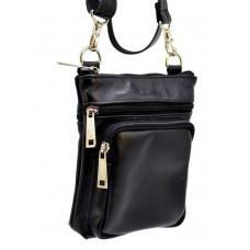 Маленькая чёрная мужская сумка через плечо TARWA GA-1342-4lx