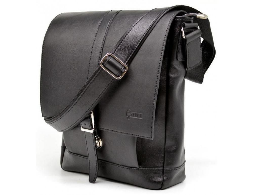 Чёрная стильная сумка на плечо формата A4 TARWA GA-1811-4lx - Фото № 2