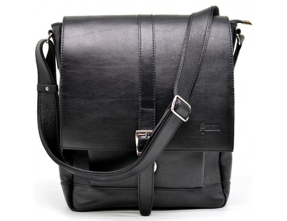 Чёрная стильная сумка на плечо формата A4 TARWA GA-1811-4lx - Фото № 1